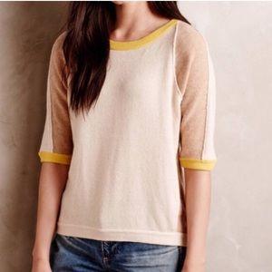 FIELD & FLOWER Beige Colorblock Cashmere B Sweater